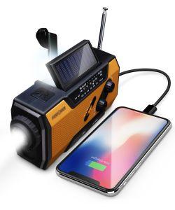 Model A1 2,000mAh Emergency Solar Hand Crank NOAA Weather Radio