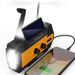 Model A3 4,000mAh Emergency Solar Hand Crank NOAA Weather Radio