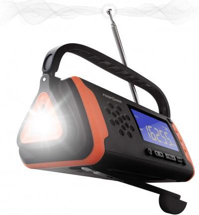 FosPower Emergency Solar Hand Crank Digital Portable AM/FM, NOAA Weather Radio review
