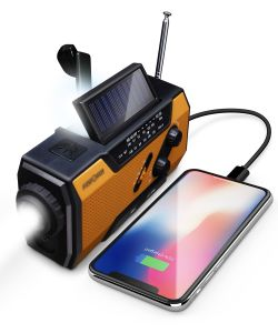 2,000mAh Emergency Solar Crank NOAA Weather Radio