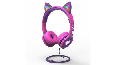 New FosPower Kids Stereo Headset with Light Up Cat Ears Brings a Dance Party for Kids